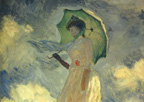 Monet Woman with Umbrella Print
