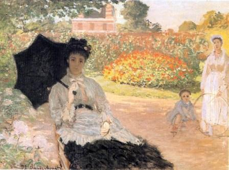 Camille in the Garden with Jean and his Nurse by Claude Monet