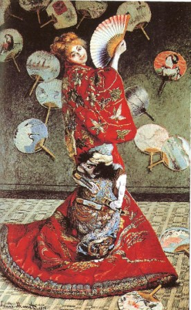 Madame Monet en Costume Japonais (La Japonaise) by Claude Monet, 1876