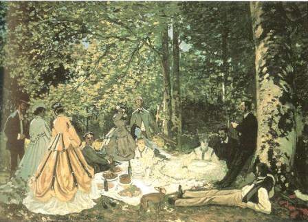 Lunch on the Grass by Claude Monet, 1866