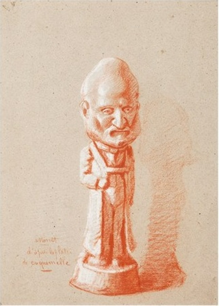 Portrait of a shareholder, from a plaster of cuquemelle
