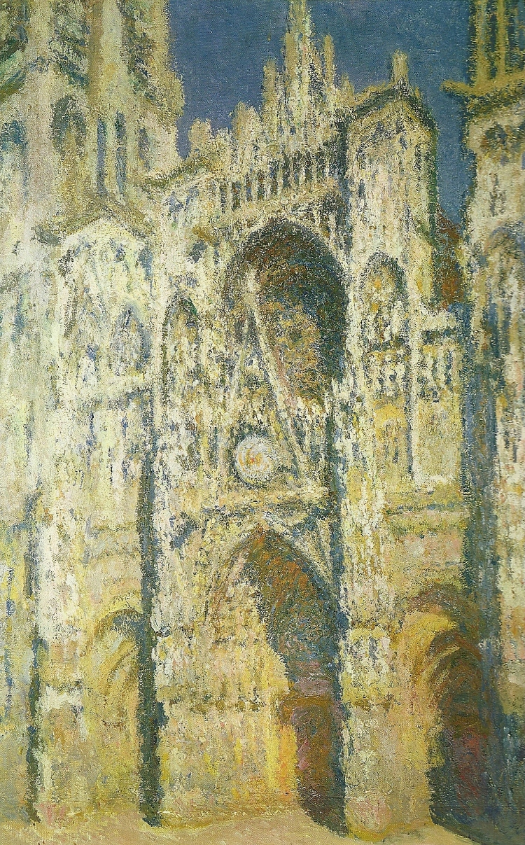 Monet Painting Rouen Cathedral: The Portal and the Tour d'Albane in the Sunlight