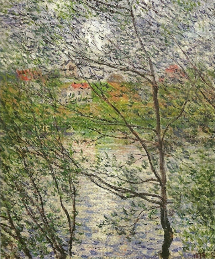 The Banks of the Seine or Spring through the Trees