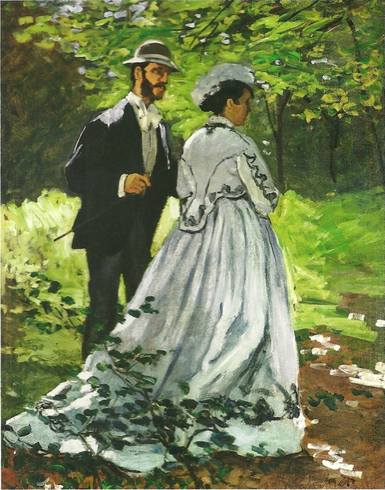The Promenaders or Bazille and Camille