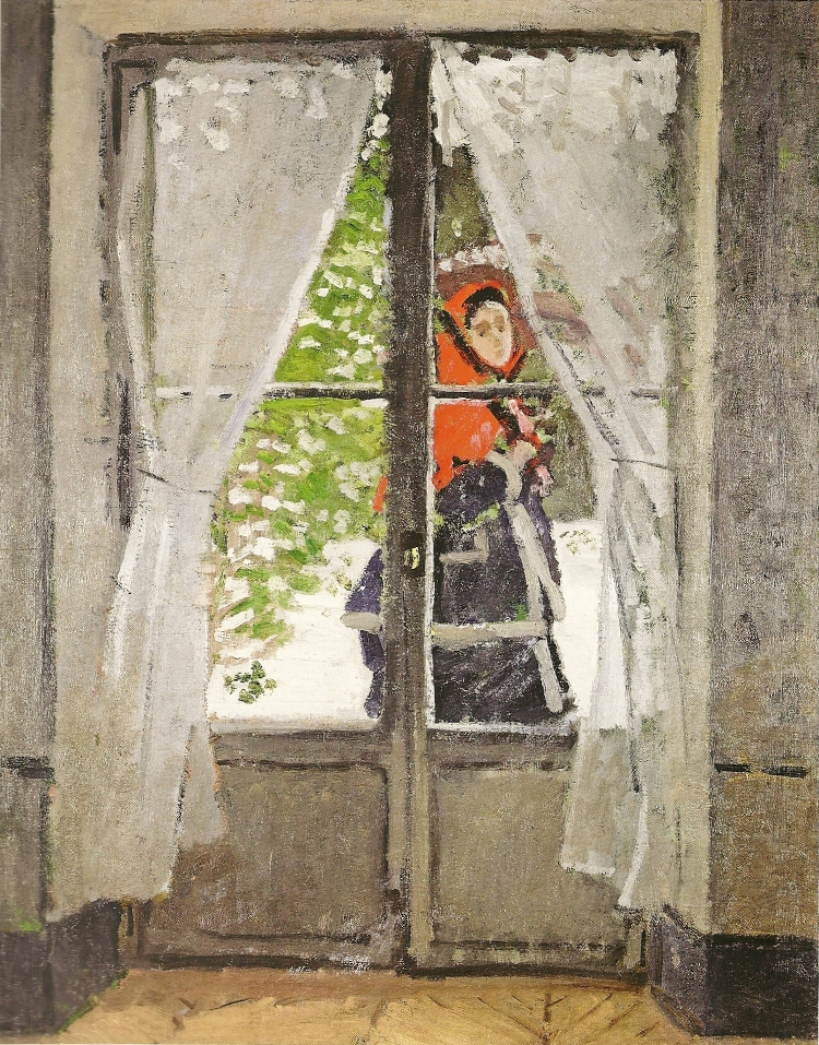 The Red Kerchief, Portrait of Madame Monet