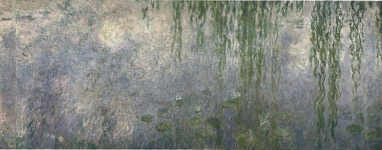 Water Lilies: Morning with Weeping Willows