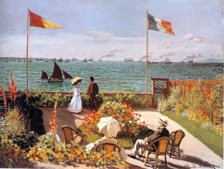 Terrace at Sainte Adresse by Claude Monet, 1867