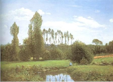 View at Rouelles by claude Monet, 1858