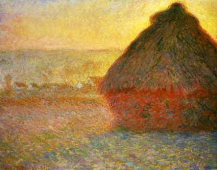 Haystack at Sunset near Giverny