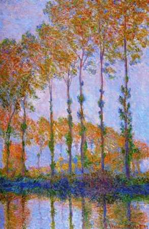 Poplars Along the Epte River, Autumn