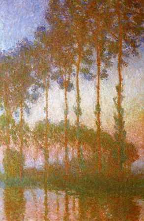 Poplars Along the Epte River, Dusk