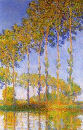 Poplars Along the Epte River, Sunset Effect