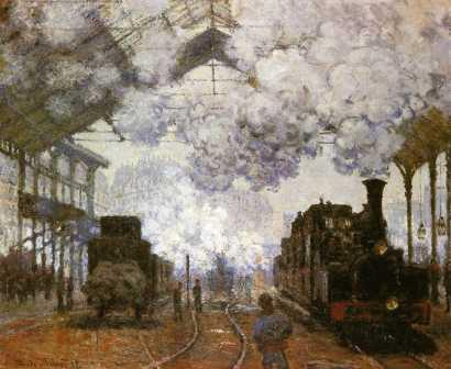 The Gare Saint-Lazare, Arrival of a Train