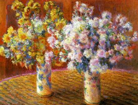 Two Vases of Chrysanthemums