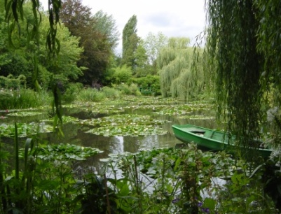 View of Monet's Water Lily Pond in Giverny